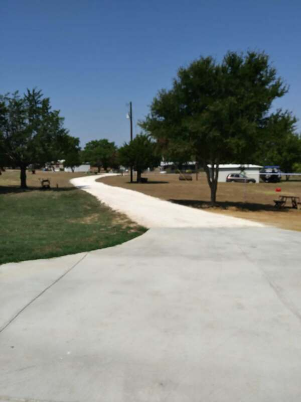 Looking down driveway before asphalt paving is installed.