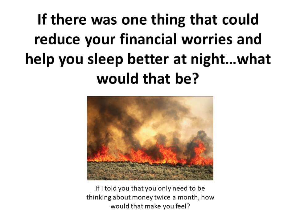 Financial worries showing everything on fire