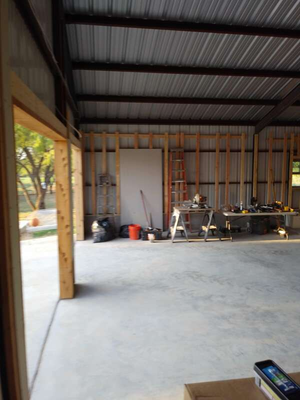 Garage door openings.