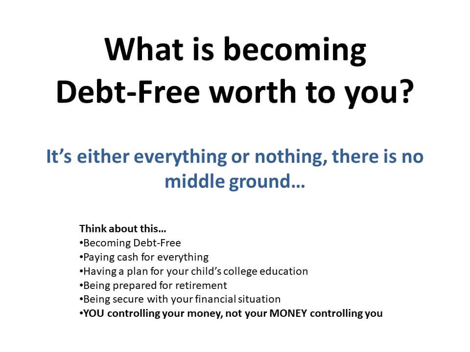 What is becoming debt free worth to you? Infographic